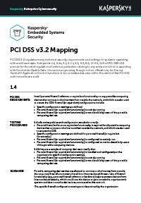 PCI DSS v3.2 Mapping: Embedded Systems